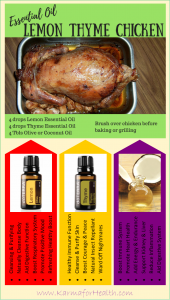 Essential Oil Lemon Thyme Chicken Recipe